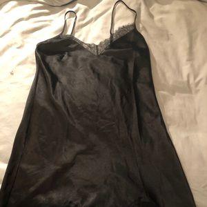 Victoria's Secret black silky nightgown